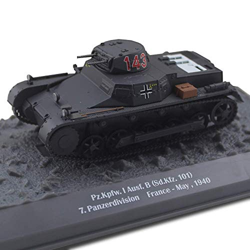 Yxxc 1/43 Scale Diecast Tank Metal Model, Sdkfz 101 Panzer I Light Tank Panzerdivision France May 1940 Model, Military Toys and Gifts, 3.7Inch X 1.9Inch