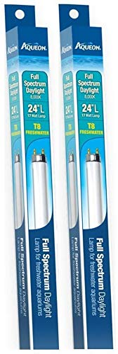 Aqueon 2 Pack of Full-Spectrum Daylight T8 Fluorescent Lamp 17-Watt, 24-Inch
