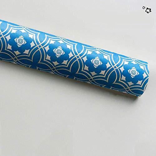 ZXL Vintage patroon cadeaupapier, luxe cadeaupapier geschikt voor oogstdankfeest cadeaupapier zacht behang (kleur: E, maat: 50 * 70CM)