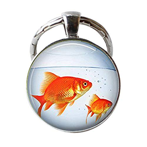 Fish Bowl Keychain Gold Fish Tank Aquarium Goldfish Key Chain