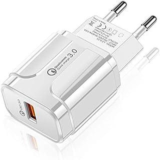 شواحن حائط الهاتف المحمول Portable QC3.0 18W USB Port Universal Quick Charging Charger, EU Plug