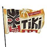 N/A Hanging Flag Dekor,Fahne,Flagge,Garten Banner,Hawaiian Tiki Polyester Flag-Vivid Farbe Und Uv-Lichtbeständig Für Den Außen-/Innenbereich 150X90 cm