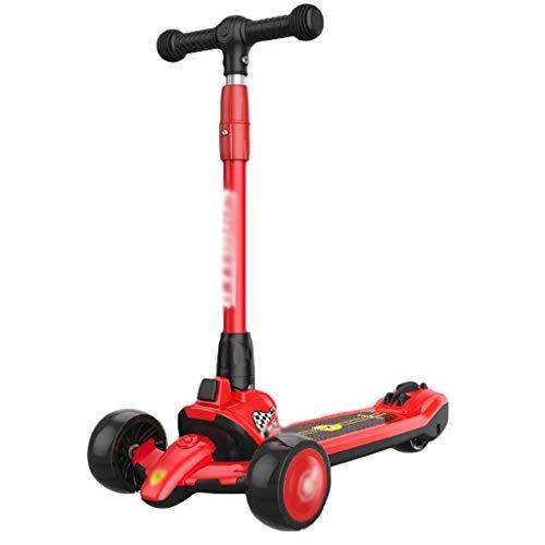 Dongxiao Roller Roller für Mädchen Jungen Extraweite PU-Flash-Räder Radroller für Kinder 3-12 Jahre Alt...