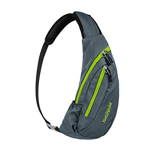 Naturehike Unisex Reisen Sling Bag Schulterrucksack Umhängetasche Daypack Crossbody Bag Verstellbarem Schultergurt Perfekt für Wandern Radfahren(Grau)