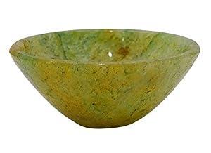 HARMONIZE Green Hand Carved Serpentine Stone Bowl Energy Generator Spiritual Reiki Healing Stone