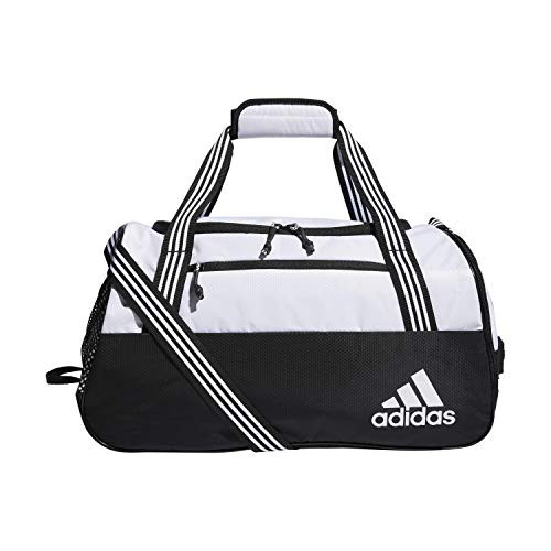 adidas Women's Squad Duffel Bag, White/Black, ONE SIZE