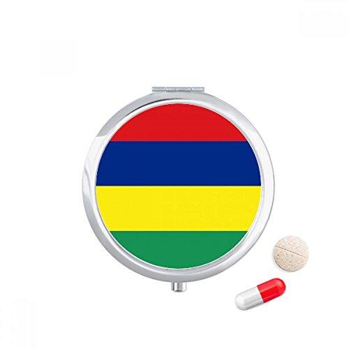 DIYthinker Mauritius Nationale Vlag Afrika Land Reizen Pocket Pill case Medicine Drug Opbergdoos Dispenser Spiegel Gift