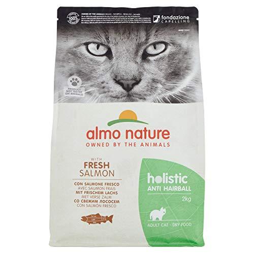 Almo Nature Holistic Anti-Hairball Adult Cat Completo Cibo secco con salmone fresco - 2Kg