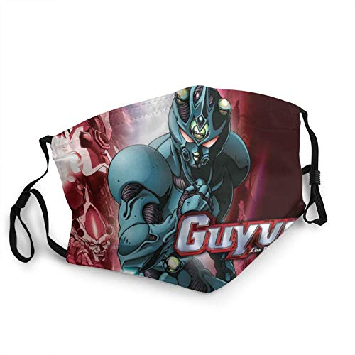 Bio Booster Armor Guyver Unisex Outdoor Mouth Mask Reusable Mouth-Muffle-One Size - Scarf Bandanas Neck Gaiter Face Mask Face Cover With 2 Filters Made In USA-face mask-