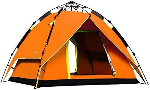 T-Mark Zelt Pop-up-Zelt Hydraulische Anti-UV-Strand Automatische Dom Familie Sun-Zelt for Outdoot Camping Strand Camping-Zelt (Farbe: Orange) (Color : Orange)