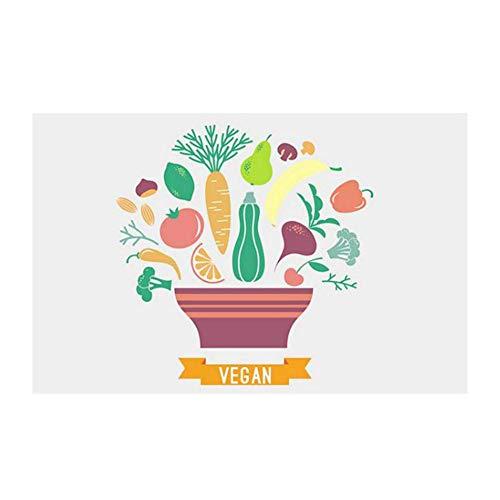 iTemer. Adesivi da Muro Serie, 1x Cartone Animato Cibo Adesivi per  Piastrelle Olio-Prova per Il Piastrella di Cucina Decorazione Tile Sticker  di ...