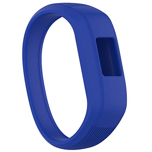 Meifox Compatible with Garmin vivofit JR Bands for Kids,Solf Silicone Replacement Band with Garmin Vivofit JR/Vivofit JR 2 / Vivofit 3 (Navy Blue, Large)