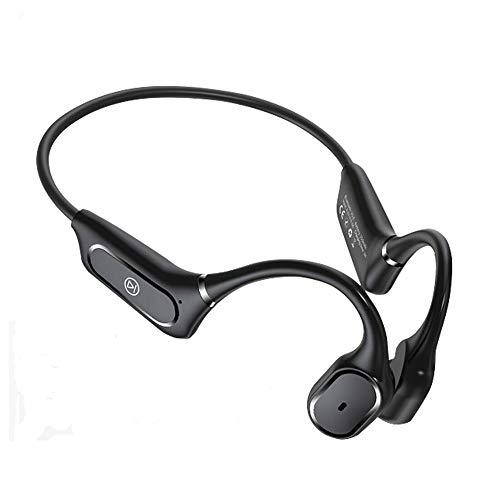 Nicejoy Auriculares de conducción ósea, Auriculares Corriendo, H11 Bluetooth Wireless Bluetooth 5.0 Auriculares para Deportes al Aire Libre para Correr para Correr Black Cycling