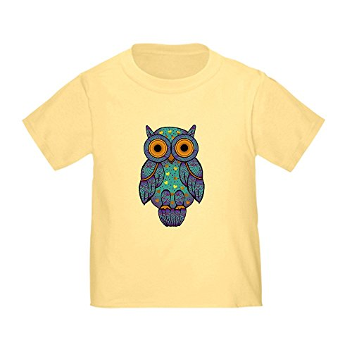 CafePress H00t Owl Toddler T Shirt Cute Toddler T-Shirt, 100% Cotton Daffodil Yellow
