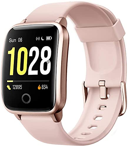 Willful Smartwatch,Pantalla de 1,3 Pulgadas Reloj Inteligente Impermeable IP68 con Pulsómetros para Mujer Hombre, Pulsera de Actividad Inteligente con Monitor de Sueño Contador de Caloría Cronógrafo