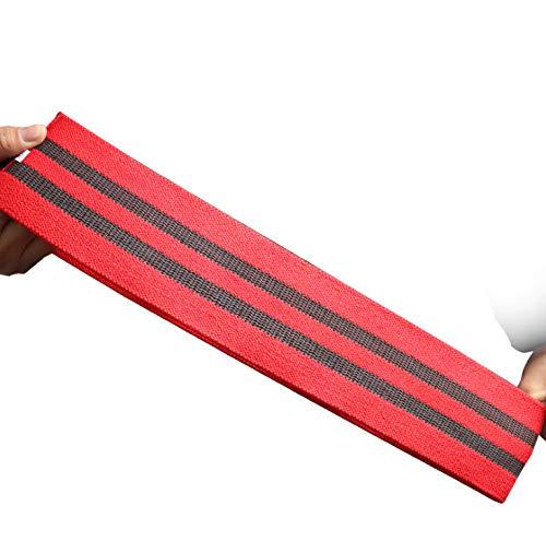 Weerstandsbanden, Weerstandsbanden Voor Benen En Billen, Inclusief Fitnessband Oefenhandboek, Antislip Enkellaarsjes Voor Heren En Dames, Rugstretcher 64 Cm Rood