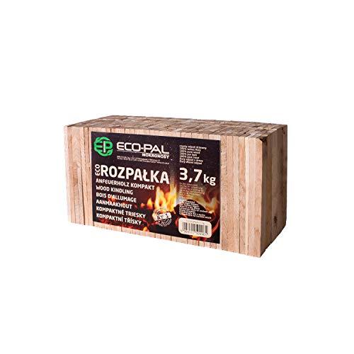 ECO-PAL Anfeuerholz, ökologisches Anzündholz, sauberes und extrem trockenes Ofen- Anmachholz, Holzstücke für verschiedene Arten von Feuerstellen, lange Brenndauer (3,7 kg)