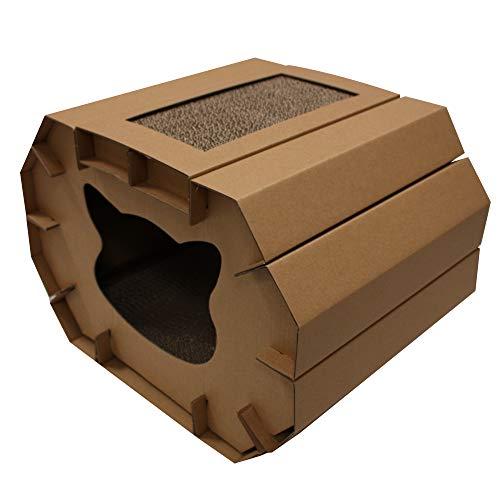 Croci C6020879 Pequeña Casa Rascadora en Cartón