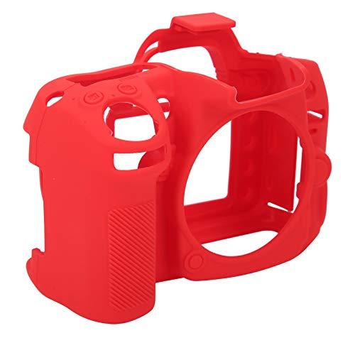 Cubierta de Silicona para cámara, Cubierta Protectora de cámara Resistente al Desgaste Tamaño pequeño Toque Suave y cómodo para la cámara Nikon D7000(Red)