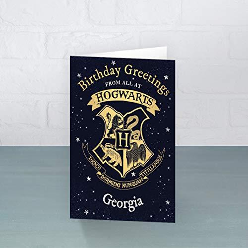 Biglietto di compleanno personalizzato di Harry Potter – Personalizza il tuo nome