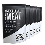 Runtime Next Level Meal Coffee - vollwertiger Mahlzeitersatz für langanhaltende Sättigung, Energie, Konzentration und Leistungsfähigkeit, mit Vitaminen und Nährstoffen, 7 x 150g