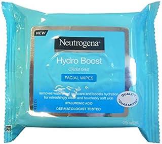 Neutrogena Hydro Boost Make-updoeken, hydraterend, met hyaluronzuur, niet-vette lotion, 25 stuks