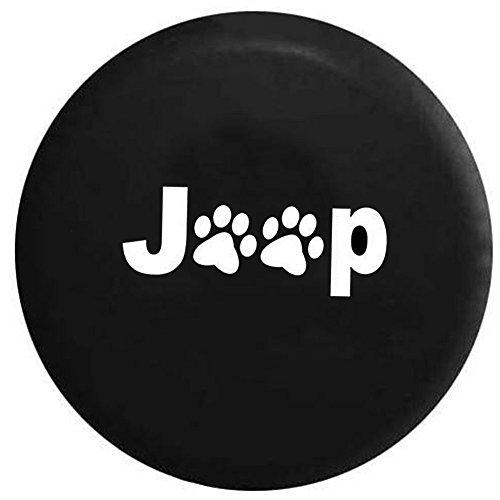 Taumini Cubierta de Repuesto para neumáticos de Jeep Liberty Wrangler Liberty Classic R17 de 40 cm, Color Negro