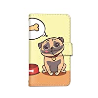 [bodenbaum] ZenFone 3 Max ZC553KL 手帳型 スマホケース カード ミラー スマホ ケース カバー ケータイ 携帯 ASUS エイスース ゼンフォン スリー マックス SIMフリー お腹の空いた犬 いぬ d-218 (C.オレンジ)