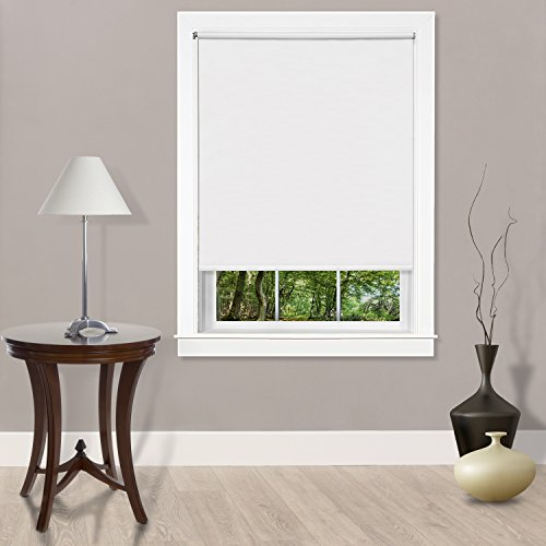 "Achim Home Furnishings Cords Free Tear Down Light Filtering Window Shade, 55"" x 72"", White"