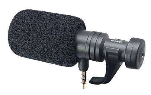 Microfono per Smartphone, Venidice VM-P01 Condensatore direzionale Mini Shotgun Video Microfono per iPhone, iPad, Huawei, Samsung Android Phone, Mic per Youtube Vlog Facebook Livestream Registrazione