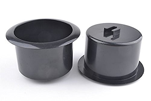 luzen 2 Pcs Black Plastic Recliner-Handles Replacement Cup Holder Insert for Sofa Boat Rv Couch Recliner Car Truck Poker Table
