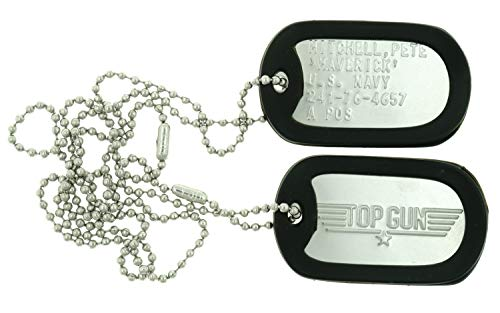 Top Gun Pete Mitchell'Maverick' Stainless Steel Military Dog Tag Set
