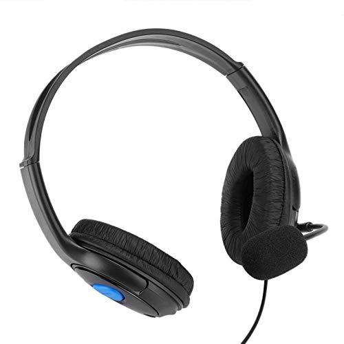 Dpofirs Auriculares de Casco Diadema para Juegos, Auriculares con Cable 3.5mm, Auriculares...