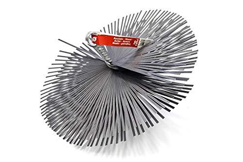 PYRO FEU 862595 Cabezal Deshollinador Acero 150 mm Rosca métrica 12, Gris