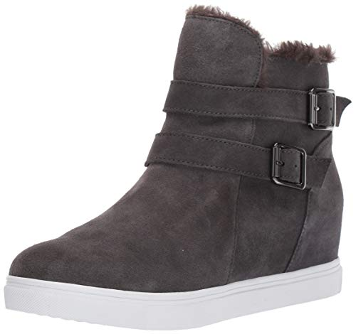 Blondo Women's Geneva Waterproof Sneaker, Dark Grey Suede, 9 M US