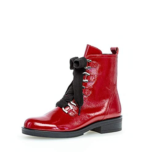 Gabor Damen Stiefeletten, Frauen Schnürstiefeletten,Wechselfußbett,Best Fitting, halb-Stiefel schnür-Bootie,Rubin,39 EU / 6 UK