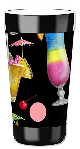 Mugzie vaso bebida taza con extraíble con aislamiento cubierta de neopreno–cócteles tropicales, plástico, Multicolor, 454 g