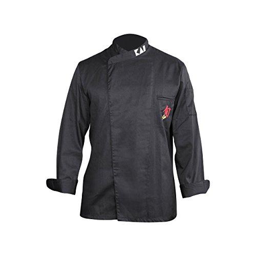 Kai Shun Veste de Cuisinier, cuisine, Veste de Cuisinier, poliyester/coton noir homme de taille M, 43070350