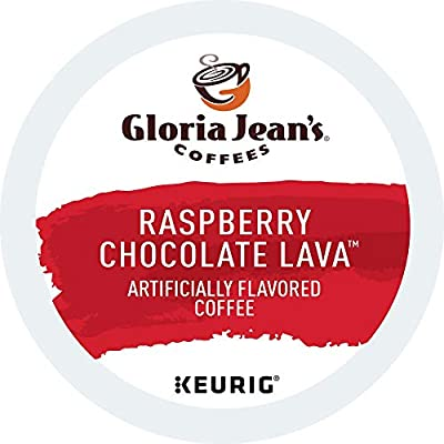 Gloria Jean's Coffees Raspberry Chocolate Lava, Single-Serve Keurig K-Cup Pods, Flavored Medium Roast Coffee, 72 Count