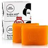 Hautaufhellende Seife mit Kojisäure von Kojie San Skin Lightening, (2 Seifenstücke, 135 g)
