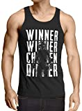 A.N.T. Winner Winner Chicken Dinner Camiseta de Tirantes para Hombre Tank Top PVP Multiplayer, Talla:L