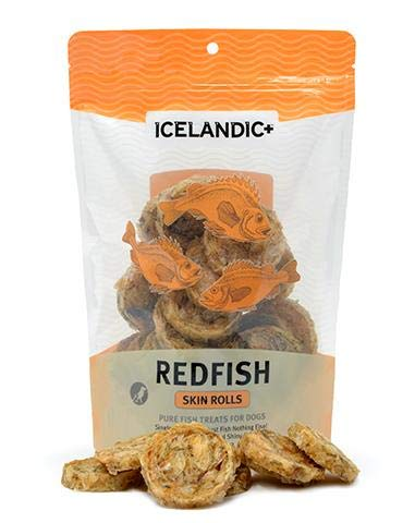 Icelandic Plus Redfish Skin Rolls Dog Treat
