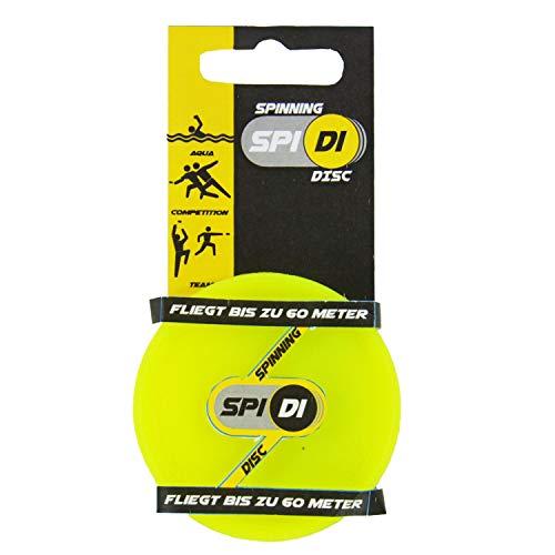 Kögler 93178 - Mini Wurfscheibe SpiDi, Silikon Spinning Disc, ca. 6,5 cm in gelb, Frisbee im Hosentaschenformat, für unterwegs, am Strand, im Garten, mit Freunden, für Erwachsene und Kinder