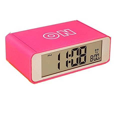 DLSMB-HO wekker met digitaal oppervlak, groot led-display, wekker, werkt op batterijen, nachtlampje, voor reizen, slaapkamer, kantoor