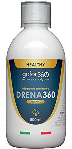 bolero bustine fa dimagrire DRENA360 | Drenante e Depurante 100% Naturale per Ridurre il Gonfiore e Depurare l'Organismo. Elimina le Tossine e Pulisce l'Organismo. Gusto Ananas | gofor360