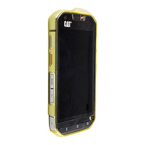 caseroxx TPU-Hülle für Cat S60, Tasche mit & ohne Bildschirmfolie (TPU-Hülle, gelb)