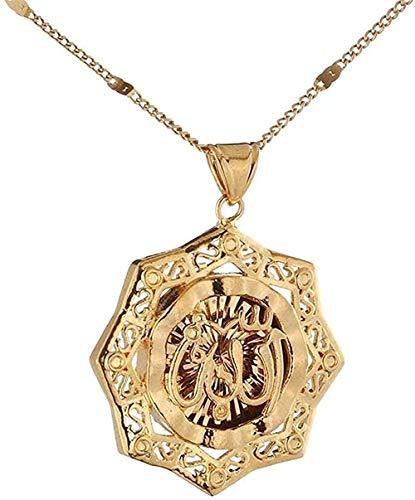 WYDSFWL Collar Pequeño Gota de Agua Conjuntos de Joyas Collares Pendientes de Color Dorado Conjunto de Pendientes para Mujeres Niñas Regalos árabes Collar Longitud 60cm Collar Regalo