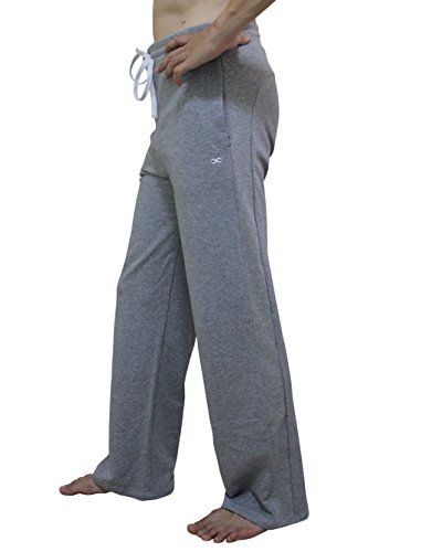 Pantalones largos YogaAddict para hombres, para practicar yoga, pilates, fitness, artes marciales, para dormir o para vestir de forma informal, hombre, color gris, tamaño X-Large