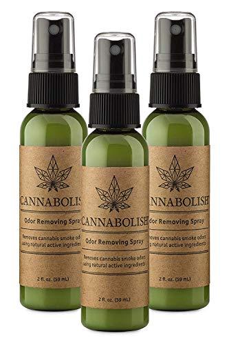 Cannabolish Smoke Odor Removing Spray and Air Freshener, 2 fl. oz. Travel Size (Pack of 3)