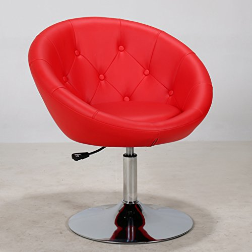 Zaixi Noir/Violet / Rouge/Blanc Simple Chaise D'ordinateur Peut Soulever Chaise Pivotante 360 ° Ménage Bar Chaise De Bureau Loisirs La Mode Châssis 40cm Tabouret De Bar (Couleur : Violet)
